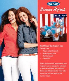 Red, White and Blue Raspberry Soda!