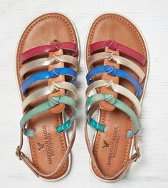 Tan AEO Bright Strappy Sandal » So perfect for summer!