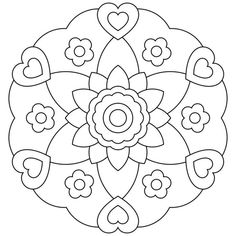 Mandalas bring relaxation and comfort to adults all over the world. Mandalas are one of our favorite things to color. Kids can color them too! We have some more simple mandalas for kids to color. Mandalas for Kids Mandala Art, Mandala Design, Mandalas Painting, Mandalas Drawing, Mandala Coloring Pages, Zentangles, Flower Mandala, Coloring Pages For Girls, Coloring Pages To Print