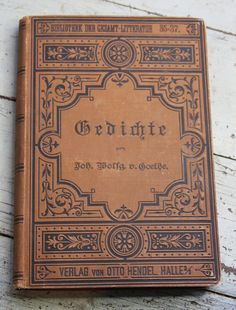 Foreign ANTIQUE BOOK Gedichte Goethe Hardcover by VintageSupplyCo