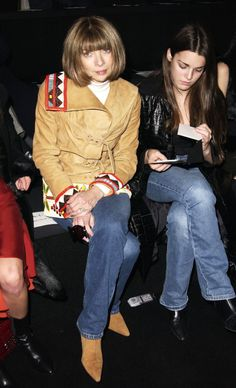 Anna Wintour at the Sean John Fall 2003 presentation in New York City.