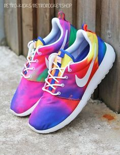 Nike Roshe Run Tie Dye - these could possibly tempt me to get fit or maybe even to run.