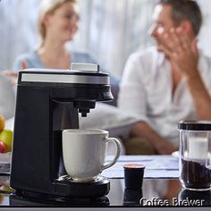 Coffee Brewer - Aicok Single Serve Coffee Maker, Coffee Machine for Most single cup pods, including K-Cup pods, Travel One Cup Coffee Brewer
