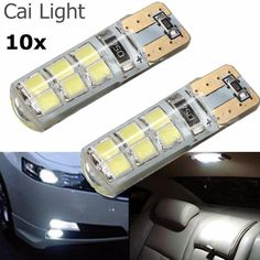 10pcs Super Bright T10 W5W 12Led 2835 Waterproof 12SMD Car Led Wedge Light Marker Side Dome Lamp Turn Reverse License Plate Bulb