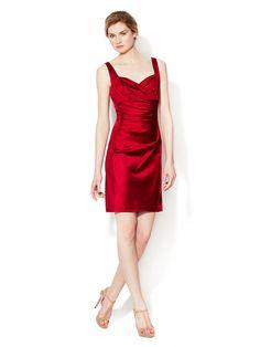 Sophia Sweetheart Satin Dress by Donna Morgan at Gilt