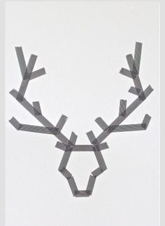 Christmas Art: Make Reindeer with washi tape on a canvas. Paint over it. Peel off tape. Noel Christmas, All Things Christmas, Winter Christmas, Redneck Christmas, Modern Christmas, Simple Christmas, Tape Painting, Painting For Kids, Finger Painting