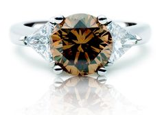 Rosendorff Colours Of The Earth Collection Brilliant Cognac and Diamond Ring