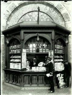 Kiosk på Københavns Hovedbanegård 1911