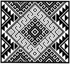 Kultura Mapuche: 'Diseños mapuche' por Cristina en Picasa Ethnic Patterns, Bead Loom Patterns, Textures Patterns, Aztec Designs, Geometric Designs, Indian Artwork, Native American Patterns, Arte Tribal, Native Design