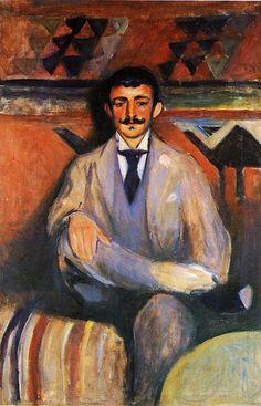 """Depois do famoso """"O Grito"""" com um rosto distorcido e ícone de diversas paródia. Conheçam uma obra de Munch, não tão sombria assim.  Munch, Edvard (1863-1944) - 1891-92 The Painter Jacob Bratland (Munch Museum, Oslo, Norway)"""