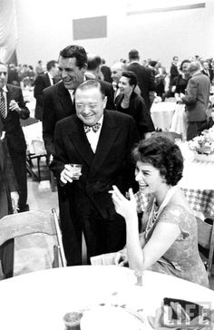 Cary Grant, Peter Lorre and Sophia Loren (1957) by Ralph Crane.