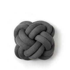 Kudde Knot mörkgrå