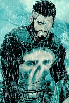 The Punisher by Marco Checchetto Comic Book Characters, Marvel Characters, Comic Character, Comic Books Art, Comic Art, The Punisher, Punisher Comics, Arte Dc Comics, Marvel Comics Art