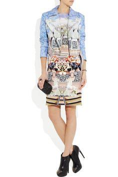 Mary Katrantzou|Printed silk dressAND jacket (awesome combo)