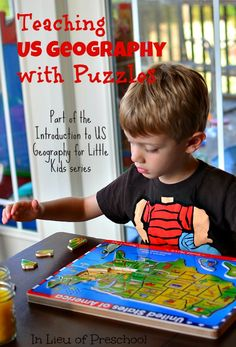 Teaching Us Geography With Puzzles Part Of The Introduction To Us Geography For Little Kids