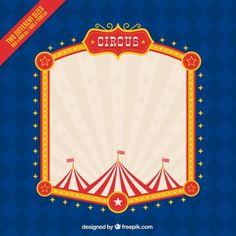 Circus frame background Free Vector