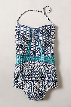 Nanette Lepore Tiled Waters Maillot #anthropologie