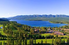 Whitefish Lake, Montana. I have actually been there but I would love to go again!