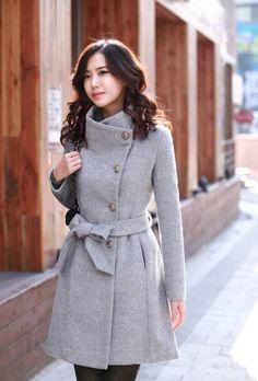 Sobretudo Feminino de Cashmere, Trench coat Importado - Moda e Beleza
