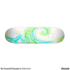 Re-Created Tsunami Skate Deck #Robert #S. #Lee #skateboard #board #decks #skater #design #colors #customizable #re-created