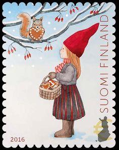 Joulupostimerkki 2016 / Christmas stamp 2016 in Finland Christmas Images, Vintage Christmas, Christmas Ideas, Sell Stamps, Stamp Catalogue, Winter Illustration, Postage Stamp Art, Scandinavian Folk Art, Christmas Night