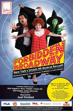 FORBIDDEN Broadway  - She played Carol Channing, Lady of the Lake & Harvey Firestein from Hairspray