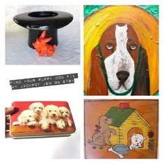 Are you a dog lover? Well then you should check out #jackpotjenetsy for some adorable vintage puppy dogs for sale as well as some cool acrylic dog portraits. I LOVE dogs❣️