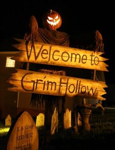 entrance to haunted house (or hayrides in my case)