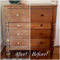 furniture makeover Dresser Makeover: Whitewashed Weathered Look Kaysie Danielle Refurbished Furniture, Paint Furniture, Repurposed Furniture, Furniture Projects, Rustic Furniture, Furniture Refinishing, Furniture Styles, Furniture Design, Dresser Furniture