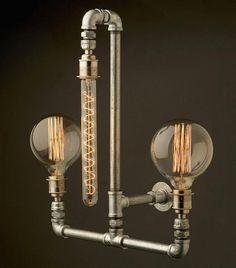 modern lighting design in retro styles