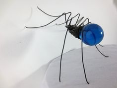 Simple Cerulean Blue Spider Upcycled Art by thedustyraven on Etsy, $21.00
