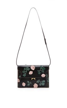 Floral Embroidered Pochette With Strap by for Preorder on Moda Operandi