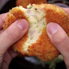Galettes, croquettes de patate lardons, fromage frites // Japanese-Style Ham Cheese Croquettes healthy_food_to_lose_weight, healthy_food, Tasty Videos, Food Videos, Cooking Recipes, Healthy Recipes, Recipes With Ham, Healthy Food, Ham And Cheese, Cheese Food, Food Hacks