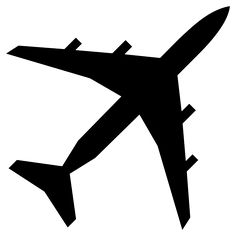 free stencils for airplanes | File:Airplane silhouette 45degree angle.svg - Wikipedia, the free ...
