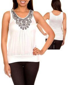 Embellished Bib Top CLEARANCE at $12.00