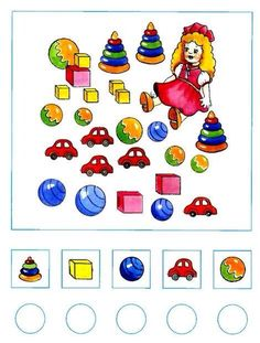Hoeveel zijn er? Thema: speelgoed Montessori Activities, Kindergarten Activities, Preschool Activities, Math For Kids, Lessons For Kids, Teaching Kids, Kids Learning, Math Gs, Kids Math Worksheets