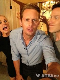 """Alexander Skarsgård Looks Adorably Confused At The """"True Blood"""" Premiere Party"""