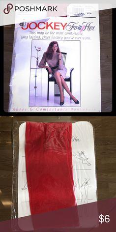 Radiant red panty hose. Medium-Tall. Sheer Radiant red panty hose. Sheer. Control top. Medium-Tall Jockey for Her Accessories Hosiery & Socks