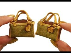 YouTube tutorial: miniature handbag for dolls. This looks do-able, although I wouldn't choose the same colours.