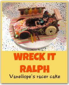 Wreck it Ralph cake: a fun racing kart kids can make them self. Great for parties!