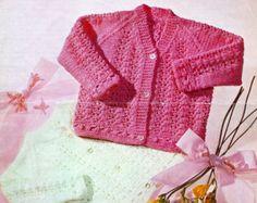 Vintage PDF Baby Knitting Pattern Whiteheads 187 por avintagescot