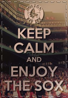 I don't exactly stay calm all the time when I'm watching them ... A certain game 6 comes to mind :)