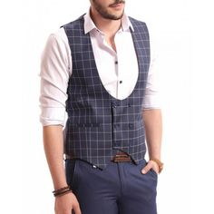 Vesta albastra DON Raymond Suit Vest, Smart Casual, Costumes, Suits, Dresses, Fashion, Vestidos, Moda, Dress Up Clothes