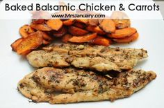 Baked Balsamic Chicken & Carrots