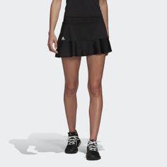 Adidas Match Black Womens Tennis Skort - Black S Frill Skirts, Mini Skirts, Womens Tennis Skirts, Jupe Short, Tennis Skort, Black Adidas, Adidas Women, Dress Skirt, Street Wear