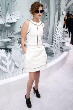 Kristen Stewart White Dress February 2017