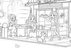 Lego friends Birthday Party - lego friends coloring - Lego girl party