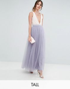 Little Mistress Tall   Little Mistress Tall Maxi Tulle Prom Skirt Maxi Skirt Formal, Grey Maxi Skirts, Tulle Skirts, Grey Tulle Skirt, Womens Maxi Skirts, Gray Maxi, Denim Skirts, Women's Skirts, Wedding Skirt