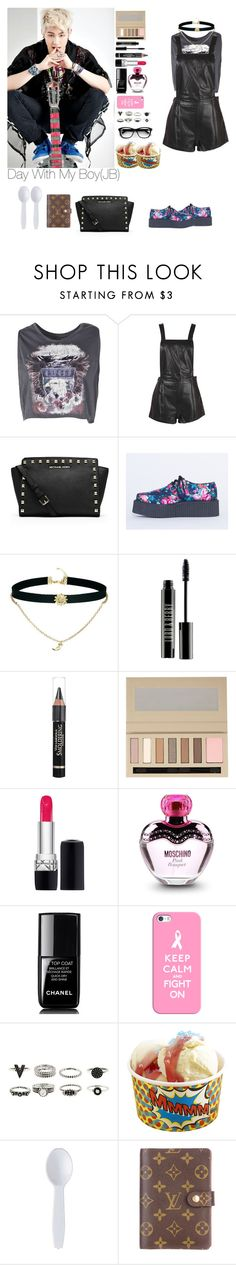 """Untitled #481"" by manulimadeolinda ❤ liked on Polyvore featuring Boohoo, MICHAEL Michael Kors, T.U.K., ASOS, Lord & Berry, L'Oréal Paris, River Island, Moschino, Chanel and Casetify"