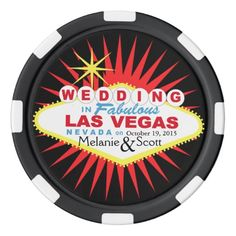 Shop Las Vegas Wedding Casino Chip created by glamprettyweddings. Custom Poker Chips, Poker Chips Set, Snacks For Work, Healthy Work Snacks, Bachelor Party Gifts, Las Vegas Weddings, Las Vegas Nevada, Casino Theme Parties, Party Signs
